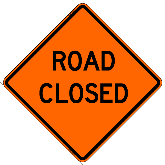 ROAD_CLOSED_Orange sign
