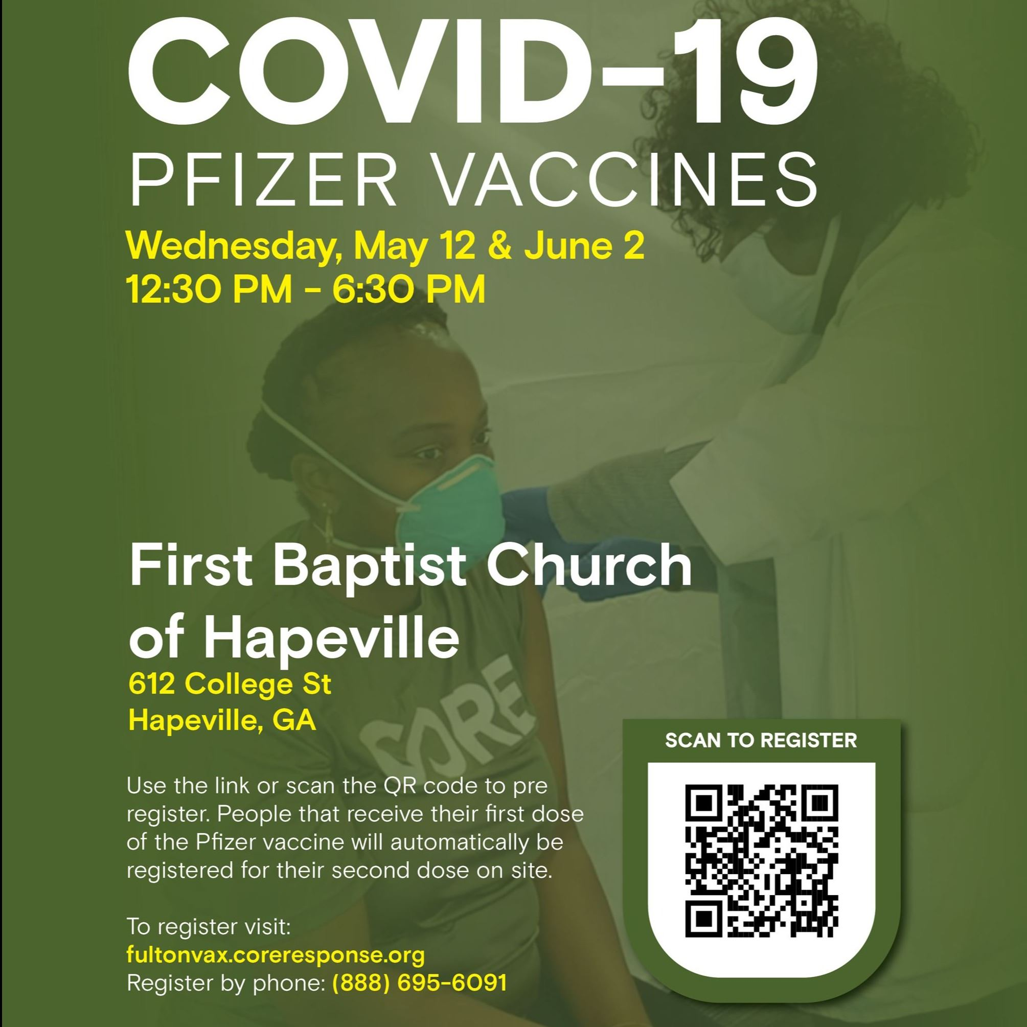 CORE sponsored First Baptist Church of Hapeville flyer